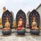 铜雕西方三圣座像 彩绘西方三圣定制 木雕西方三圣佛像