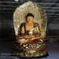佛像定制彩绘三宝佛 贴金坐像三宝佛菩萨 大型露天三宝佛神像